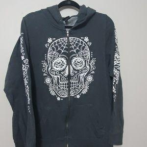 Torrid sugarskull hooded zip up sweatshirt 2X
